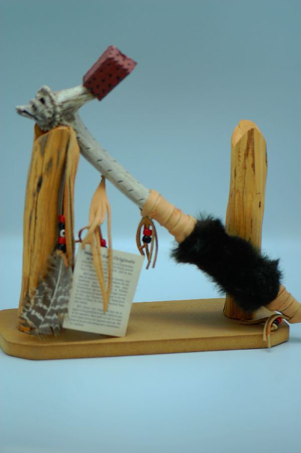 Creek/Choctaw/Cherokee – Hand Carved Deer Antler Bear Peace Pipe with Pipestone Bowl by Bill Weatherford