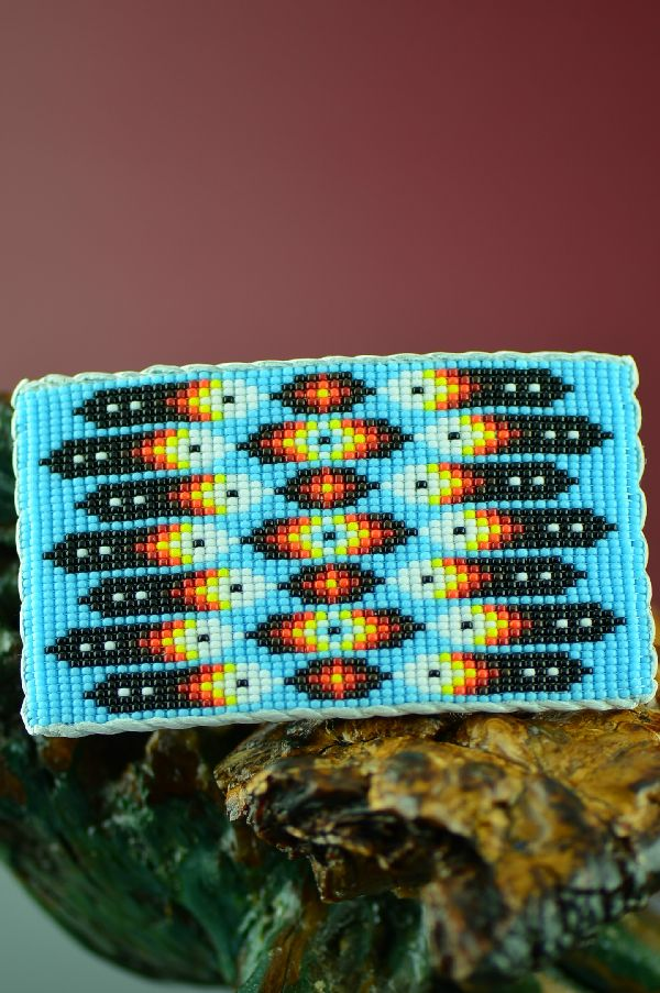 Daniel Yazzie Navajo Beaded Prayer Feather Belt Buckle