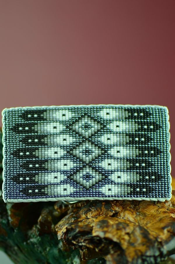 Daniel Yazzie Beaded Prayer Feather Belt Buckle Navajo
