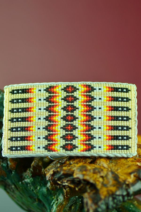 Native American Beaded Prayer Feather Belt Buckle by Daniel Yazzie