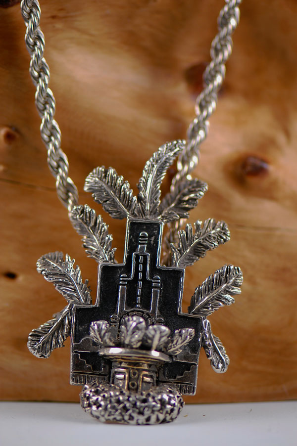 Fine Silver (.999) Butterfly Maiden Kachina Bolo Tie/Pendant by Carol Sues (Private Collection)