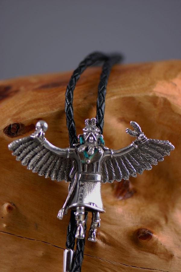 Fine Silver (.999) Eagle Dancer Kachina Bolo Tie/Pendant by Carol Sues (Private Collection)