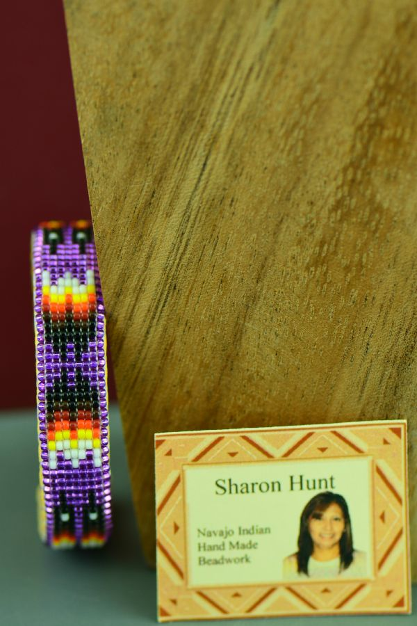 Navajo Children's Traditional Prayer Feather Beaded Bracelet by Sharon Hunt