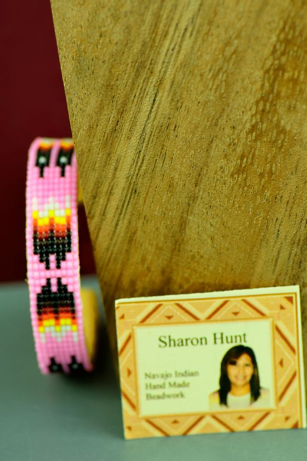 Children's Traditional Navajo Prayer Feather Beaded Bracelet by Sharon Hunt