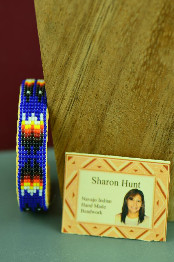 Childs Navajo Prayer Feather Beaded Bracelet by Sharon Hunt