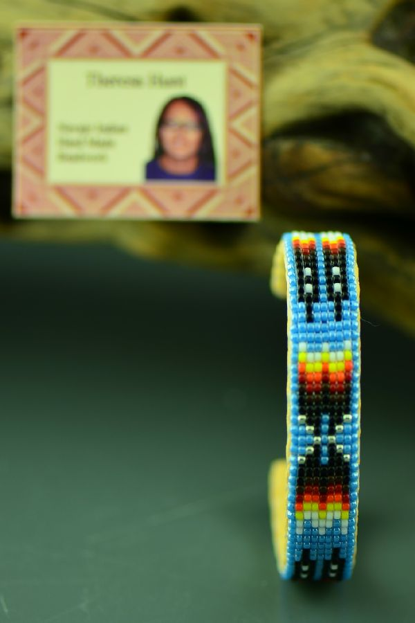 Navajo Children's Beaded Prayer Feather Bracelet by Sharon Hunt