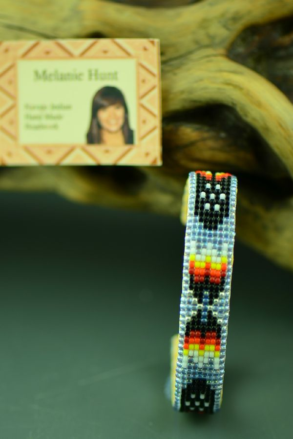 Navajo Childs Beaded Prayer Feather Bracelet by Melanie Hunt