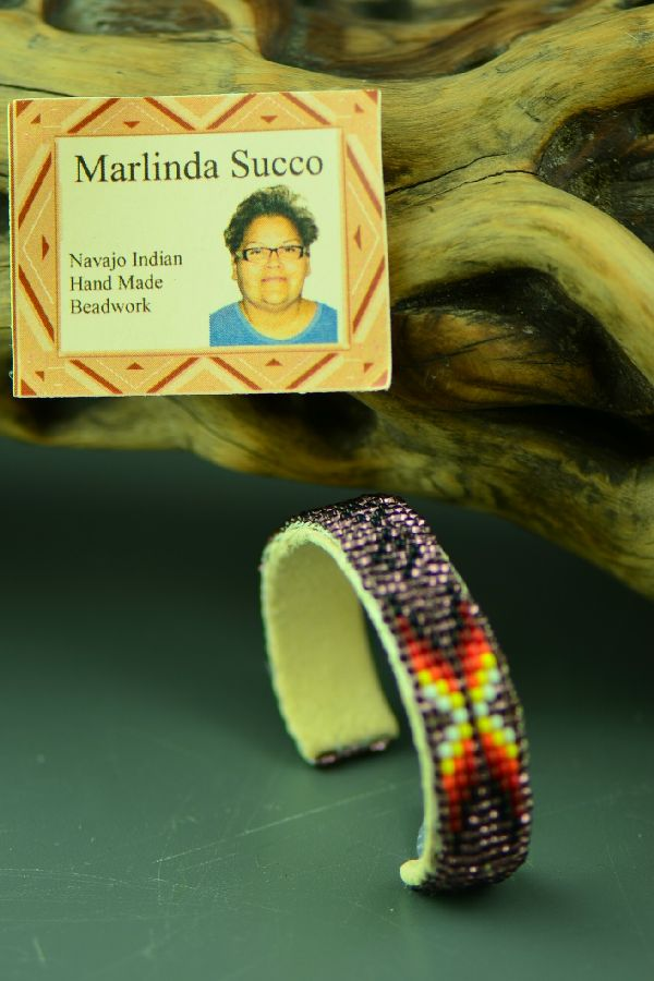Navajo Childs Beaded Bracelet by Marlinda Succo