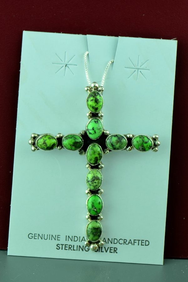 Navajo – Sterling Silver Damali Turquoise Cross by Will Denetdale