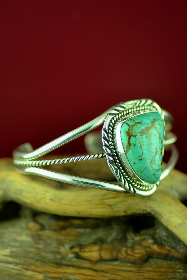 Navajo Royston Turquoise Bracelet by Will Denetdale