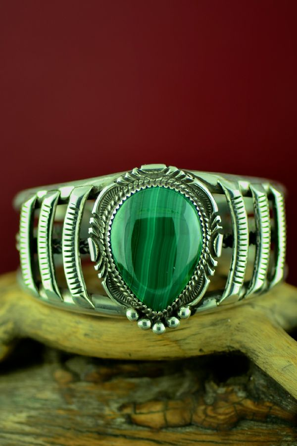 Navajo Malachite Bracelet by Loren Begay