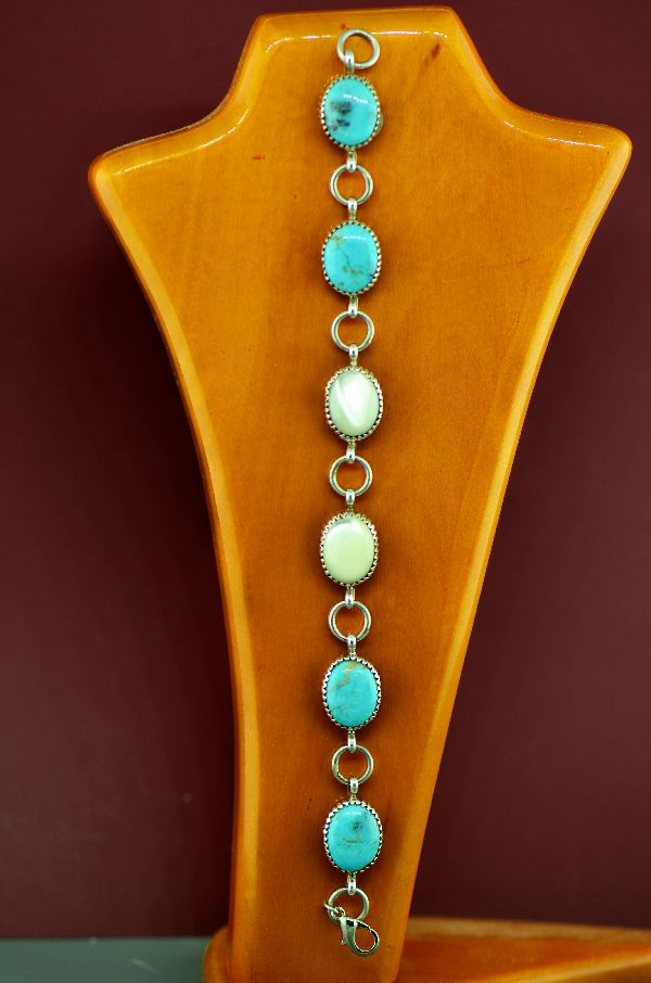 Turquoise and Mother of Pearl Bracelet