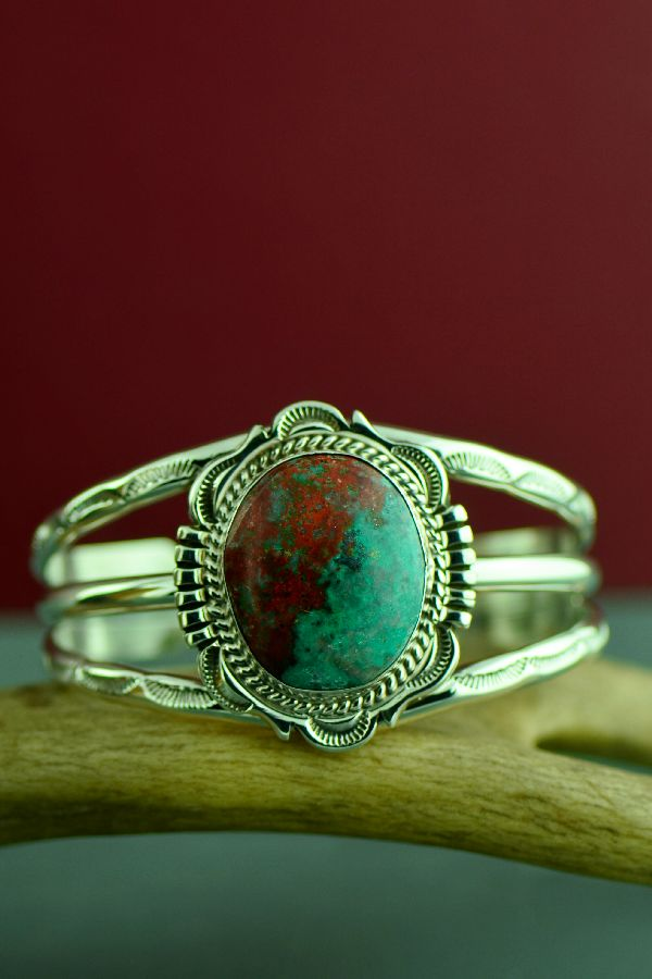 Navajo Exquisite Sterling Silver Sonoran Sunrise Bracelet by Will Denetdale
