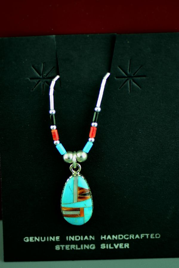 Native American Inlaid Necklace