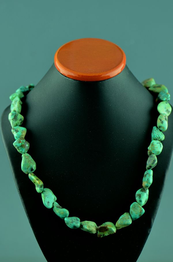 Navajo – Sterling Silver Ajax Turquoise Necklace by Donna Chee