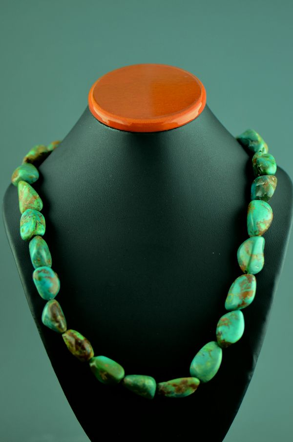 Navajo – Sterling Silver Royston Turquoise Necklace by Mary Begay