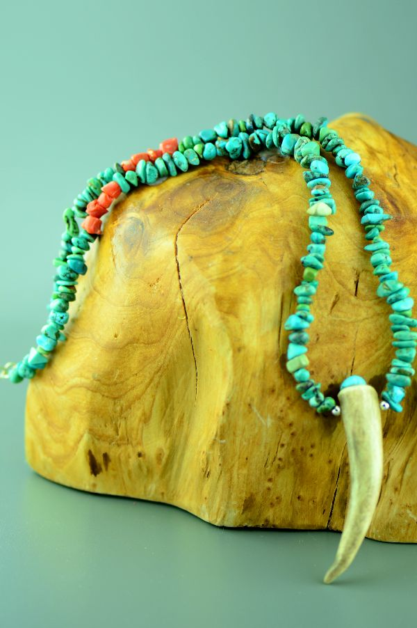 Native American Deer Anter Necklace