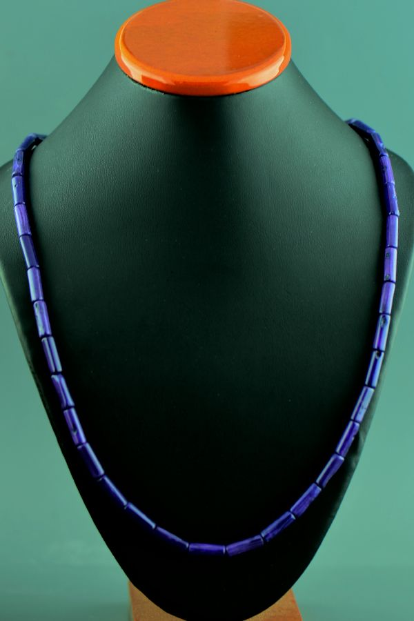 Navajo – Sterling Silver Dyed Purple Coral Necklace by Donna Chee
