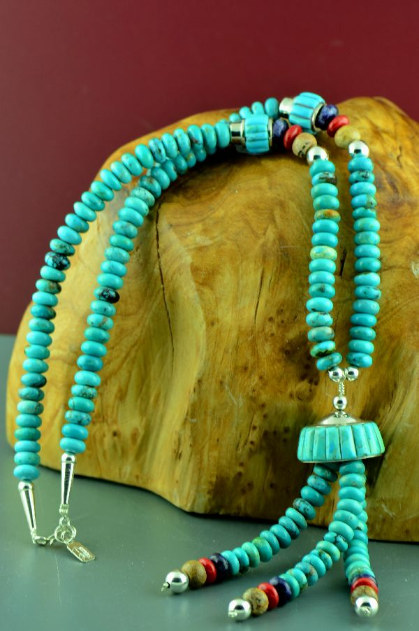 Navajo Turquoise Chieftain Necklace