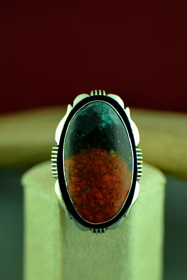 Navajo Sterling Silver Sonoran Sunrise Ring by Will Denetdale Size 6 3/4