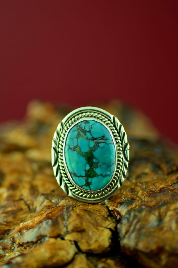 Kingman Turquoise American Indian Rings