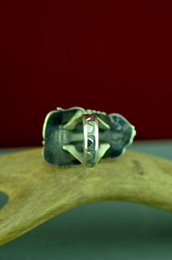 Navajo Sterling Silver African Pietersite Ring by Will Denetdale Size 9 1/4
