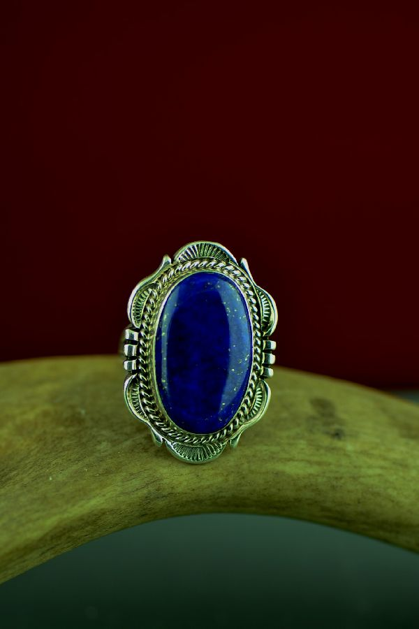 Lapis Native American Ring Size 7