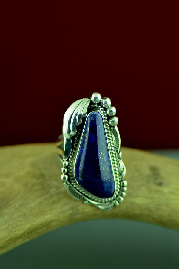 Ladies Lapis Native American Ring