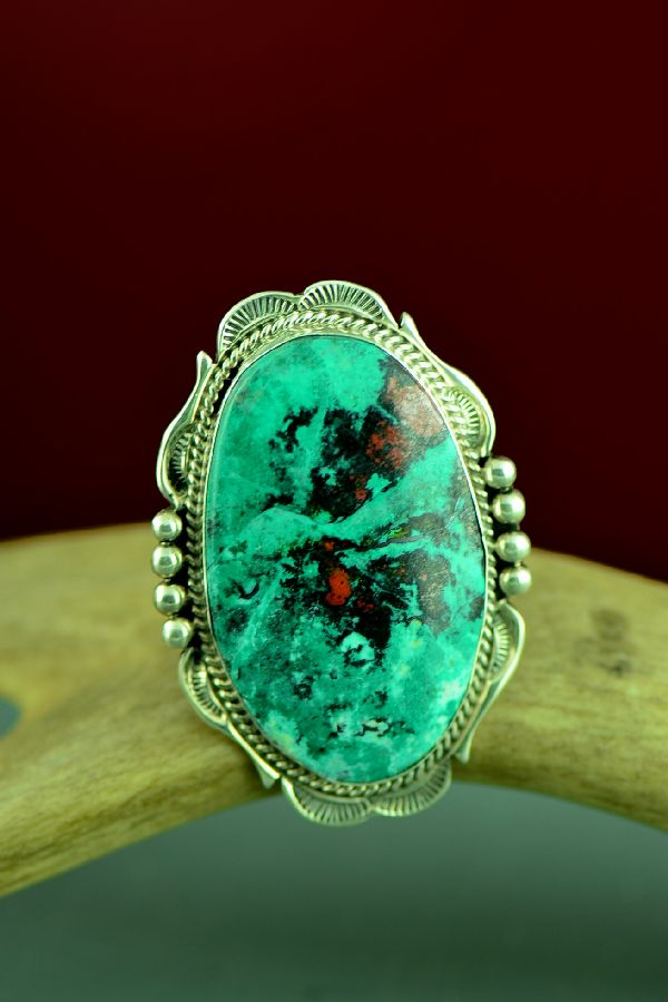 Navajo Sterling Silver Sonoran Sunrise Ring by Will Denetdale Size 8