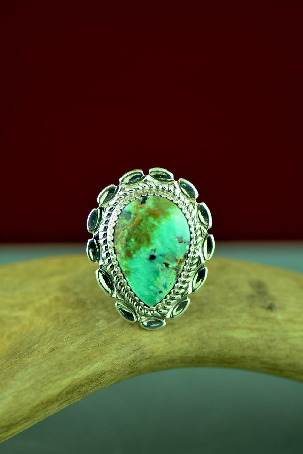 Dry Creek Turquoise Ring by Will Denetdale Size 7