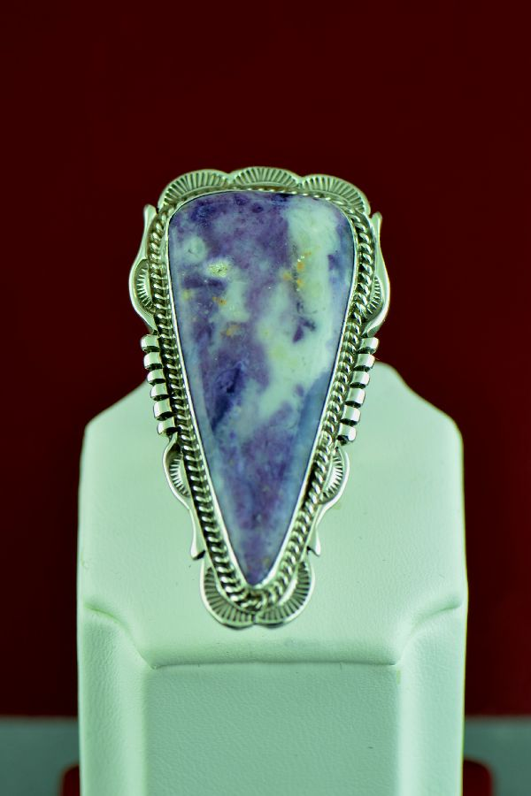 Navajo – Sterling Silver Opal Fluorite Ring by Will Denetdale Size 9 (Private Collection)