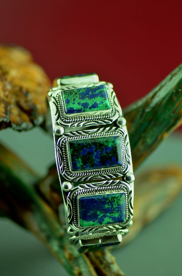 Native American Malachite Azurite Bracelet
