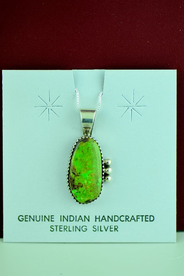 Navajo – Sterling Silver Gaspiete Pendant by Richard Begay