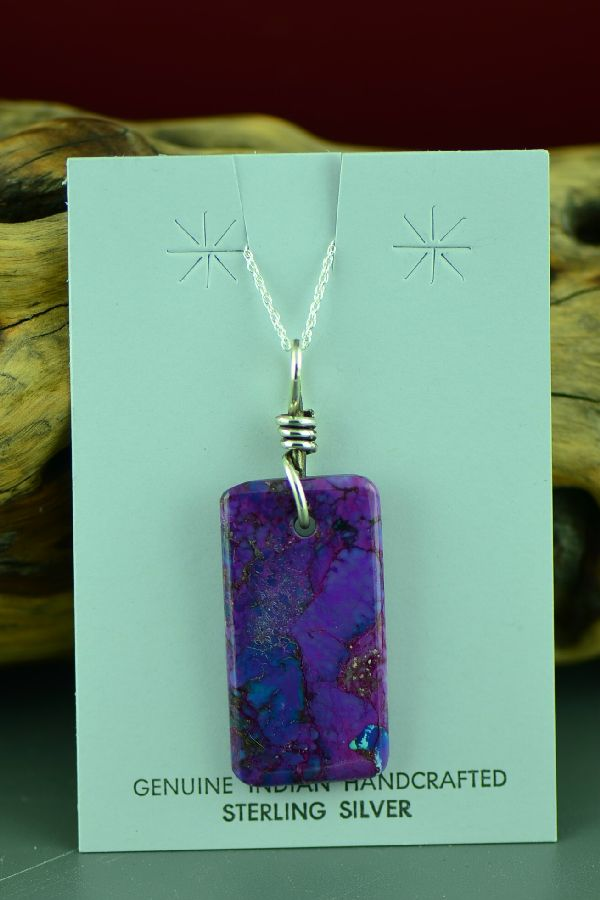 Navajo Purple Magenta Pendant by Marie Begay
