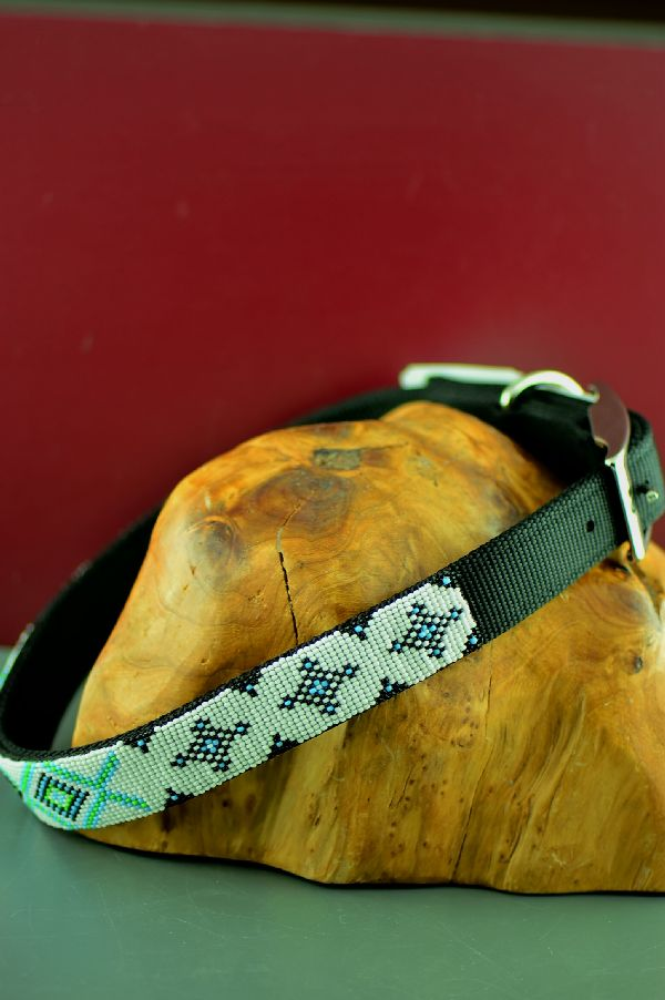Navajo 24 Inch Traditional Beaded Dog Collar by Amber Toledo