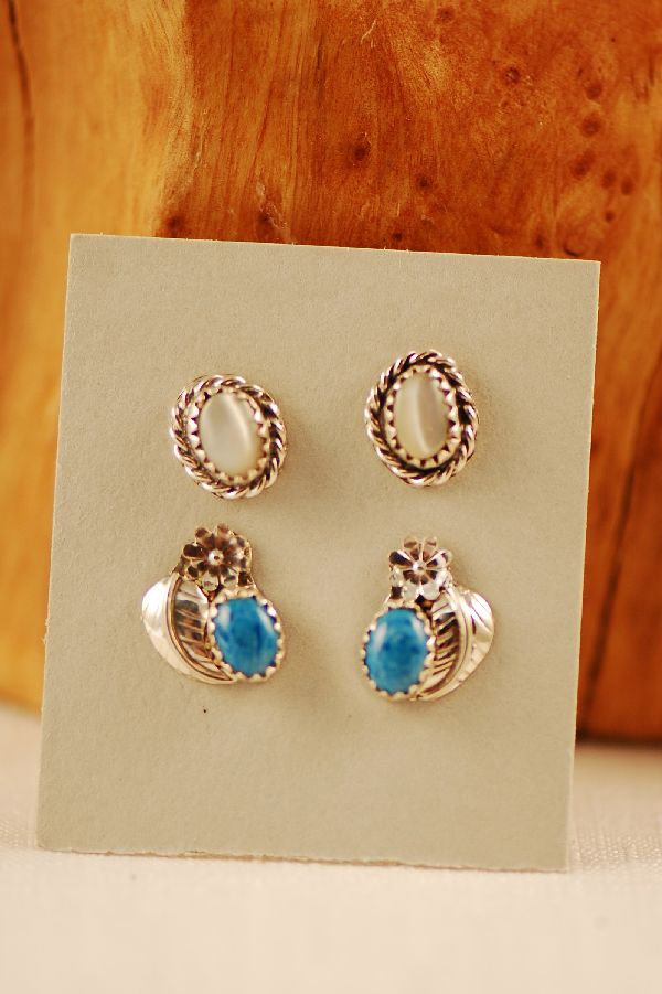 American Indian Demin Lapis Earrings