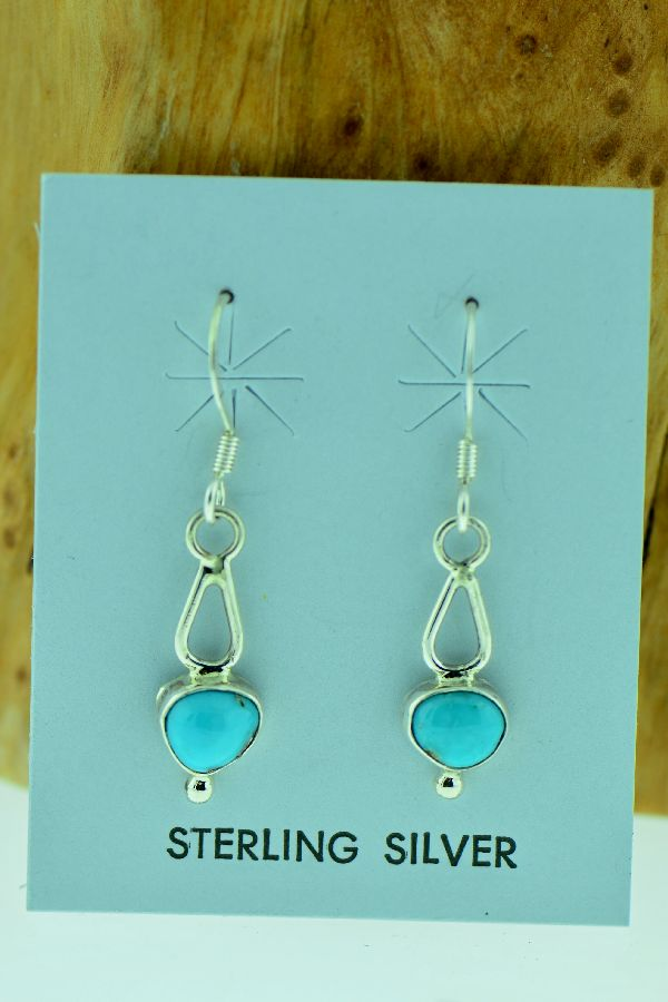 Turquoise Sterling Silver Earrings Vernon Begay