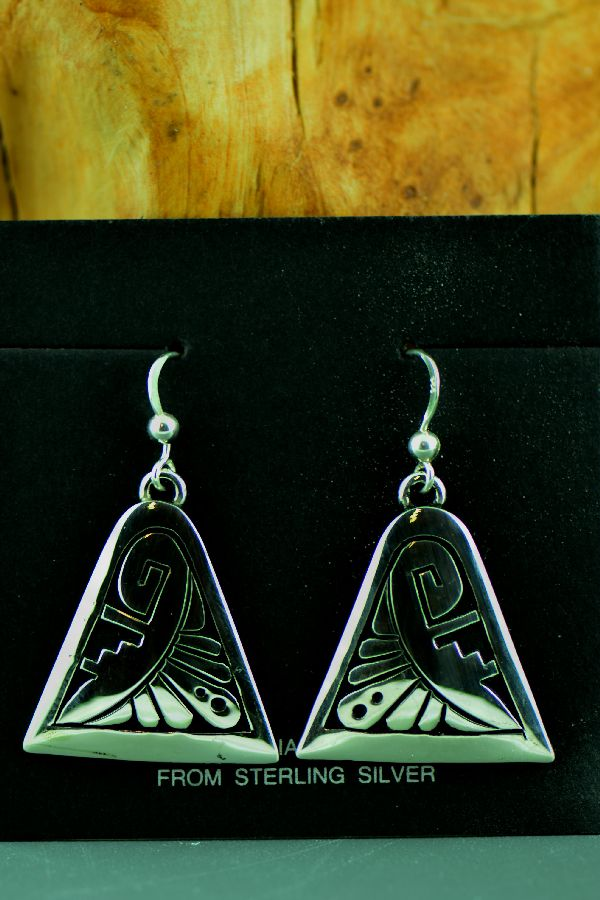 Navajo - Sterling Silver Earrings by Richard John