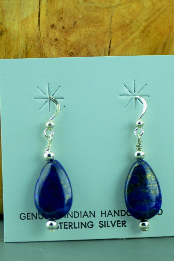 Lapis American Indian Earrings