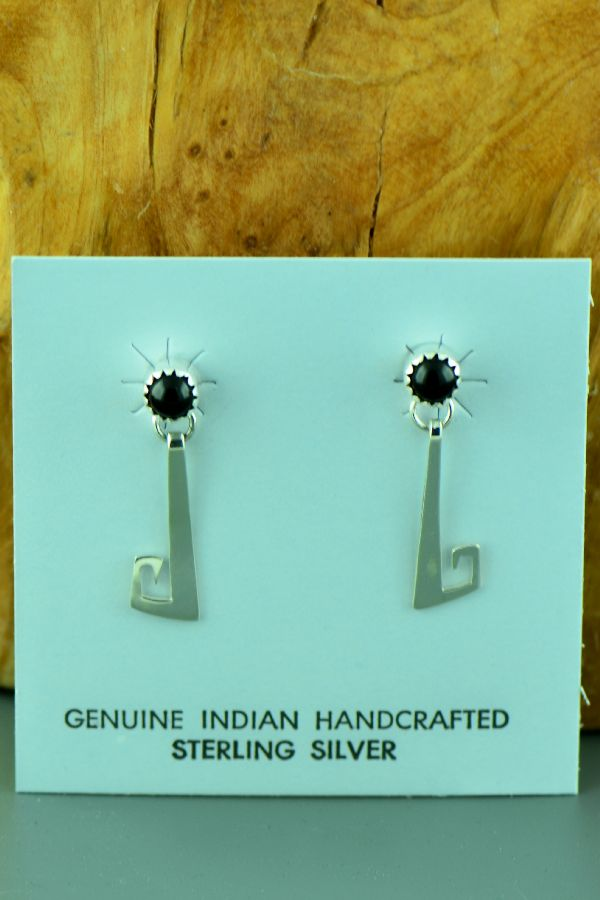 Navajo – Sterling Silver Black Onyx Earrings by Paulson Thomas