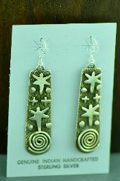 Native American All Silver Earrings Jewelry