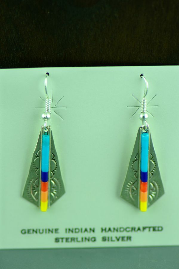 Linda and Alvin James Heishi Earrings