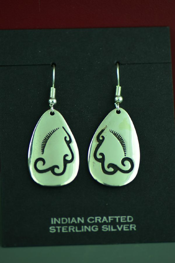 Navajo Sterling Silver Water Earrings by the late Tommy Singer