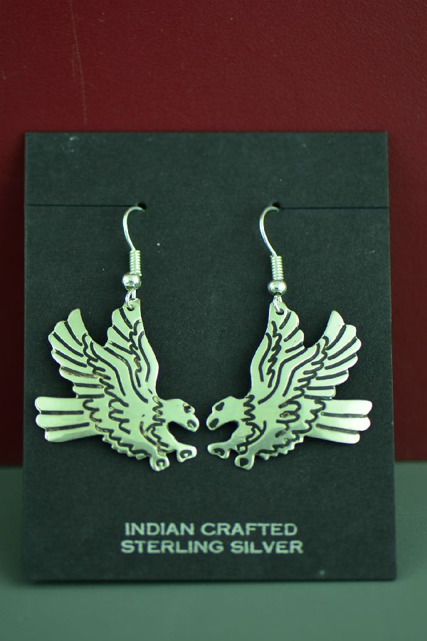 Tommy Singer Sterling Silver Eagle Earrings
