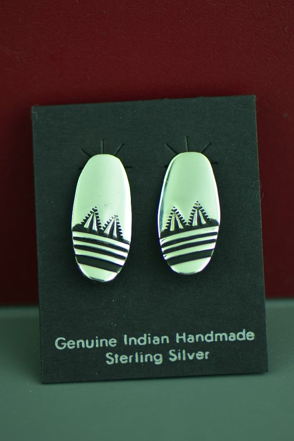 Tommy Singer Traditional Silver Earrings