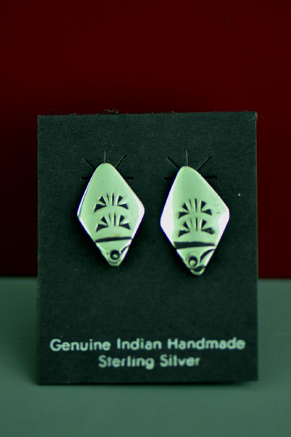 Authentic Silver Traditional Navajo Earrings