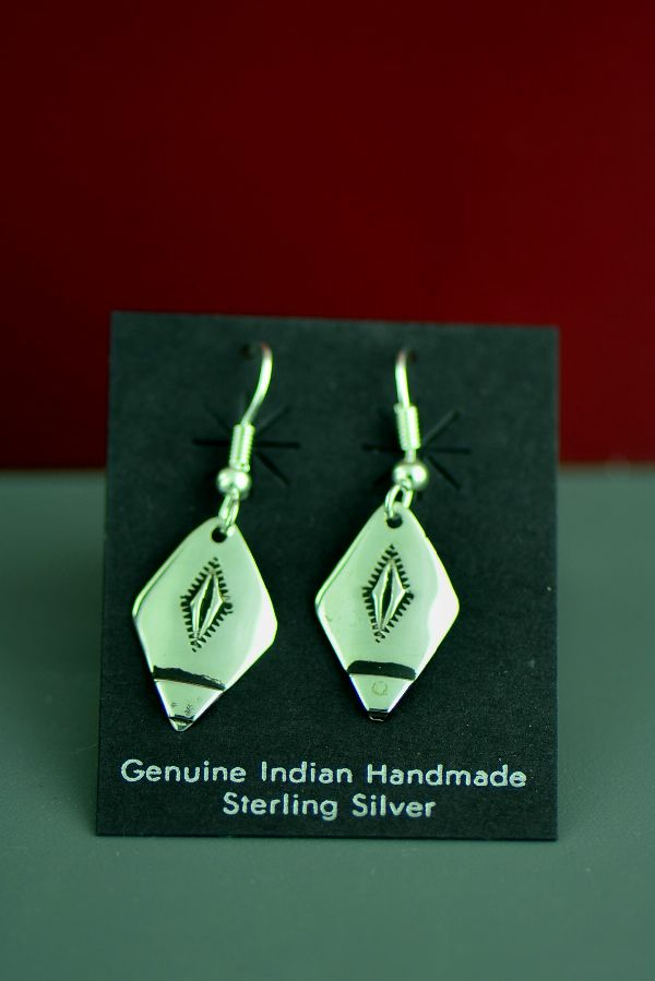Traditional Sterling Silver Earrings by the late Tommy Singer