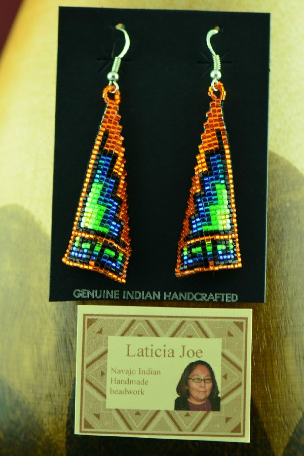 Navajo Beaded Earrings by Laticia Joe
