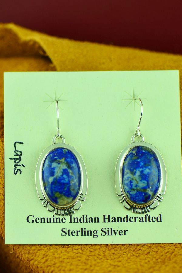 Phillip Sanchez Sterling Silver Lapis Earrings