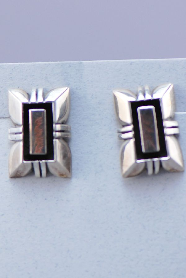 Navajo –Sterling Silver Earrings by Vangie Touchine